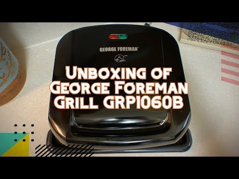 Unboxing of George Foreman 4-Serving Removable Plate Grill and Panini Press GRP1060B