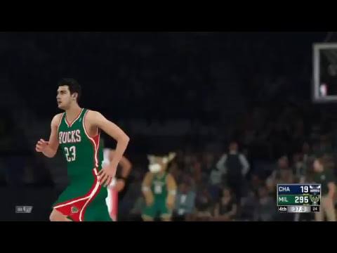 NBA 2K18 Charlotte hornets   VS MILWAUKEE BUCKS