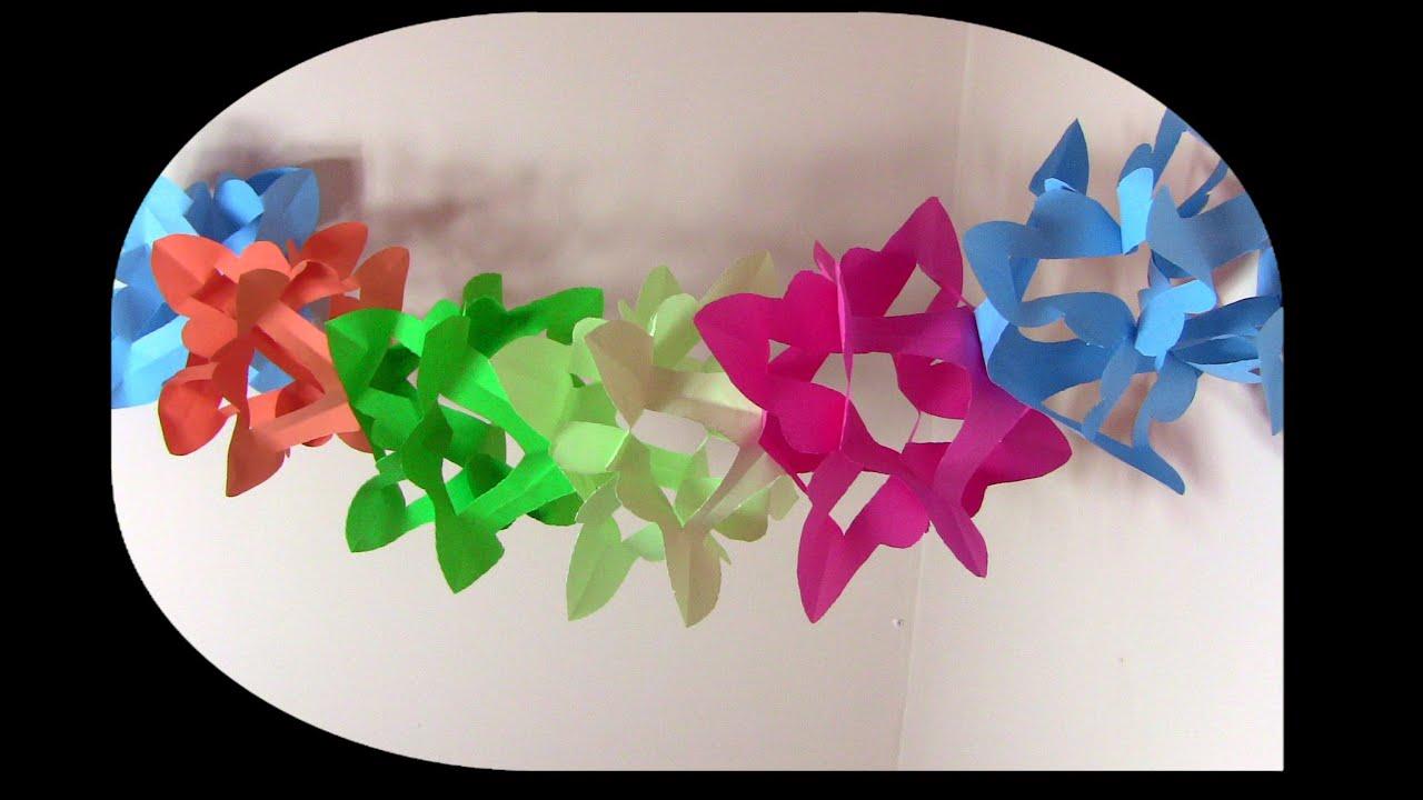 0e4b427c8538c كيف تصنع زينة من ورق أو أكياس البلاستيك المستهلكة - YouTube