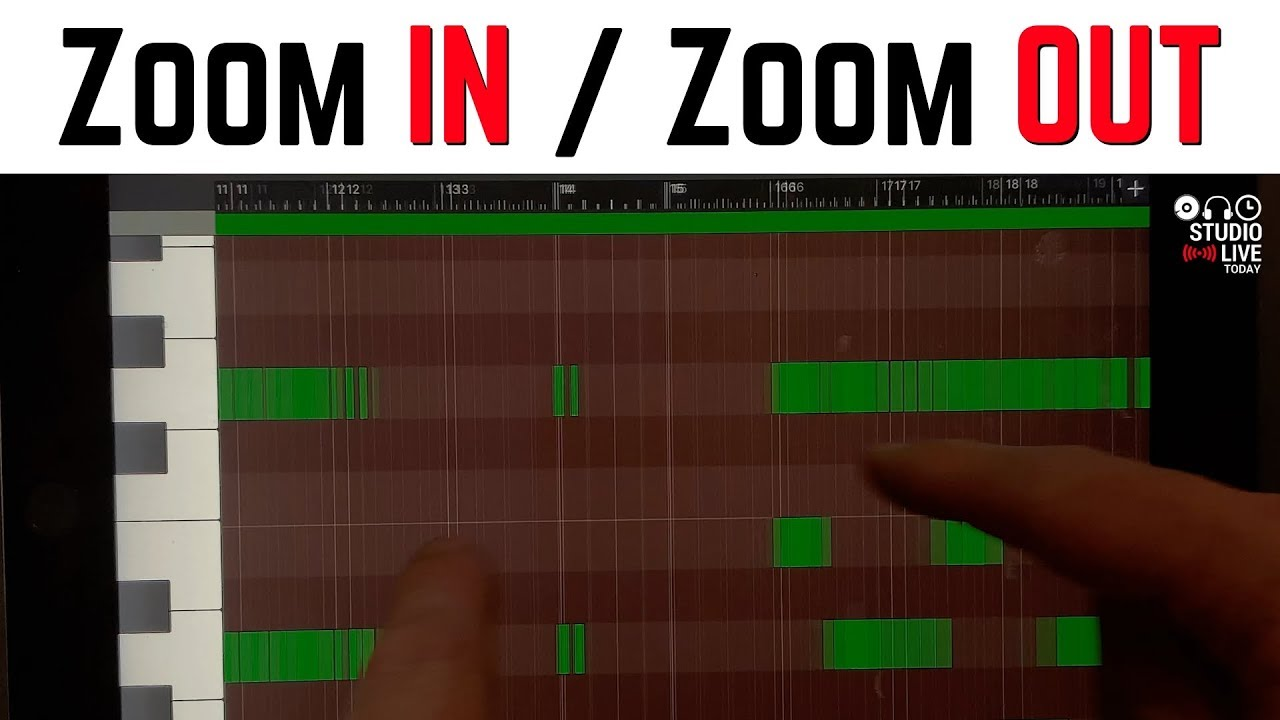 How to zoom in and zoom out in GarageBand iOS (iPhone/iPad)