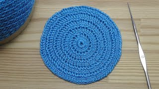 How to crochet a flat circle Как связать КРУГ крючком  ВЯЗАНИЕ для начинающих Lesson crochet circle