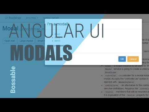 MEAN Stack - An Intro to AngularJS UI Modal - Bossable
