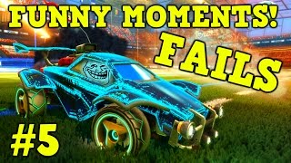 ROCKET LEAGUE FAILS & Funny Moments #5! (Funny Gameplay Compilation)