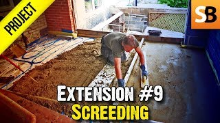 Building an Extension #9 - Ardex Rapid Dry Screed