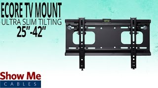How To Hang The Ecore Ultra Slim TV Mount for 25-42