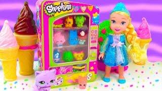 LPS Shopkins Vending Machine Playset Disney Frozen Toddler Queen Elsa Review Unboxing