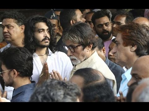 Bollywood Fraternity Attends Vinod Khanna's Funeral | Amitabh , Rishi