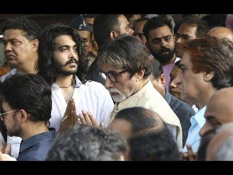 Bollywood Fraternity Attends Vinod Khanna's Funeral   Amitabh , Rishi