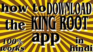 Gambar cover how to download kingroot