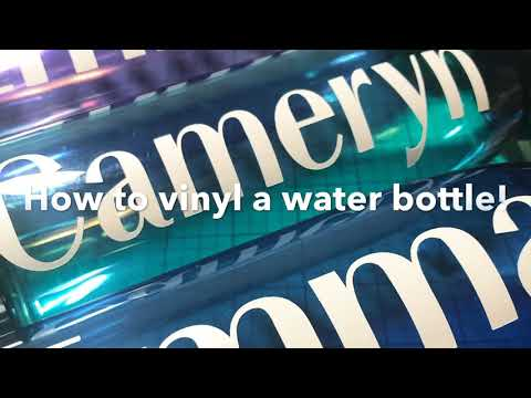 How To Vinyl A Water Bottle!