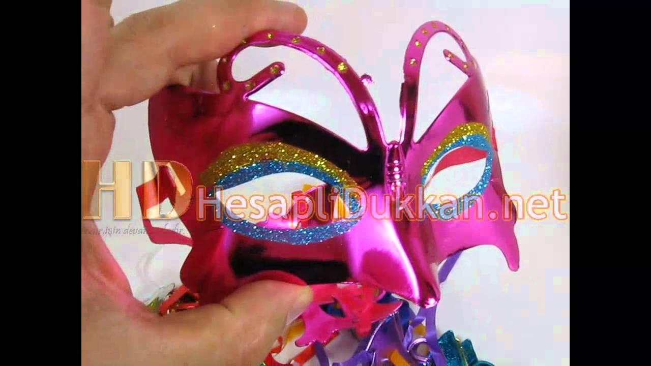 Kelebek Maske Parti Maskeleri Wwwhesaplidukkannet Youtube