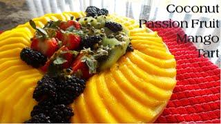 Tropical Passion Fruit- Mango Tart Vegan Fourth of July  Korenn Rachelle