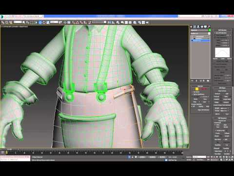 Cartoon Character For Production 3DMax (Modeling : Body) : 07  (11)