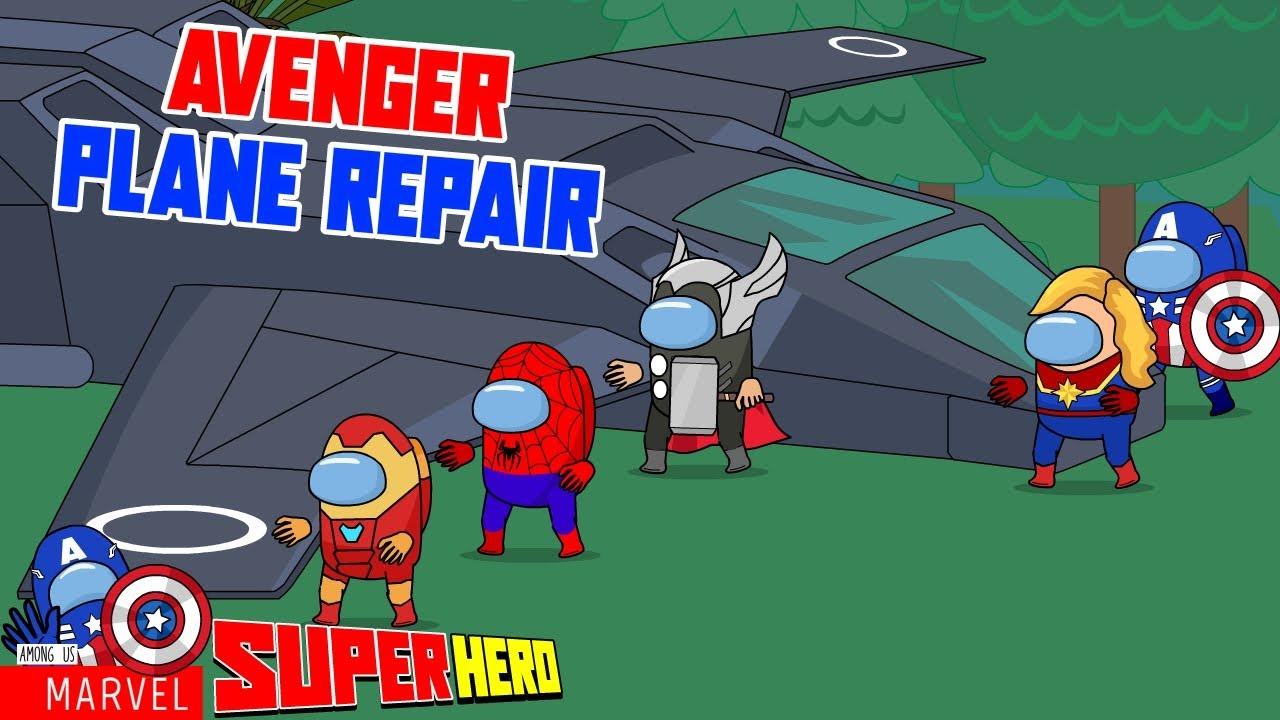 Among Us Marvel Avenger Plane Repair - Among Us marvel - Among Us Avengers