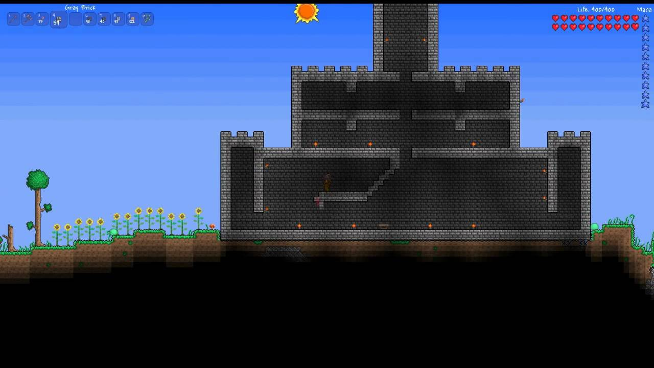Terraria Castle Speed Build Youtube