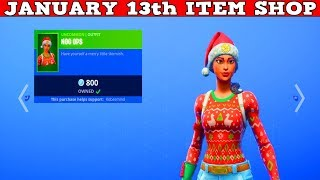Fortnite Item Shop (January 13th) | Christmas Skins Are Back lol