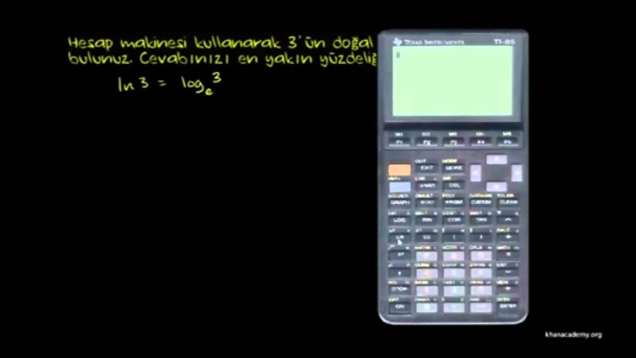 Hesap Makinesi Kullanarak Doğal Logaritma Hesaplama (Matematik / Cebir)