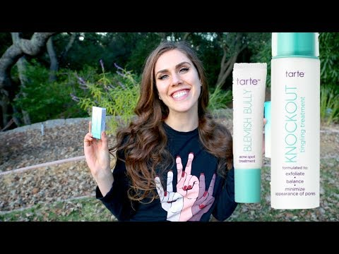 Skincare Deep Dive: NEW Acne Treatments | Tarte Cosmetics | Blemish Bully Tingling Treatment Review