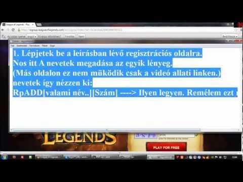 League of Legends free RP hack tutorial! Working!!!! Magyar leírással.