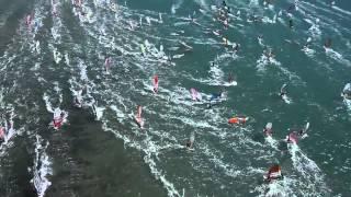 DEFI WIND 2014   1000 windsurfers   40 knts Tramontana   220km of full speed racing in 4 days