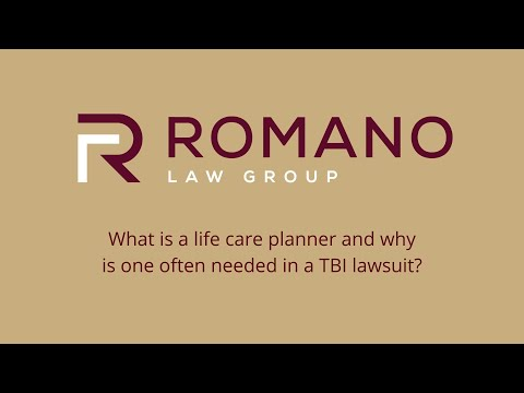 What is a life care planner and why is one often needed in a TBI lawsuit?