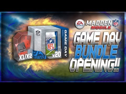 Sweet Game Day Bundle Opening!! FIRE TOPPER!! Madden Mobile 18