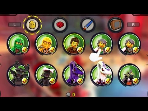 lego ninjago shadow of ronin all characters red bricks unlocked 100