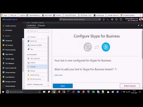 BMC Helix Platform - Enabling Office 365 Skype For Business In A Chatbot Application