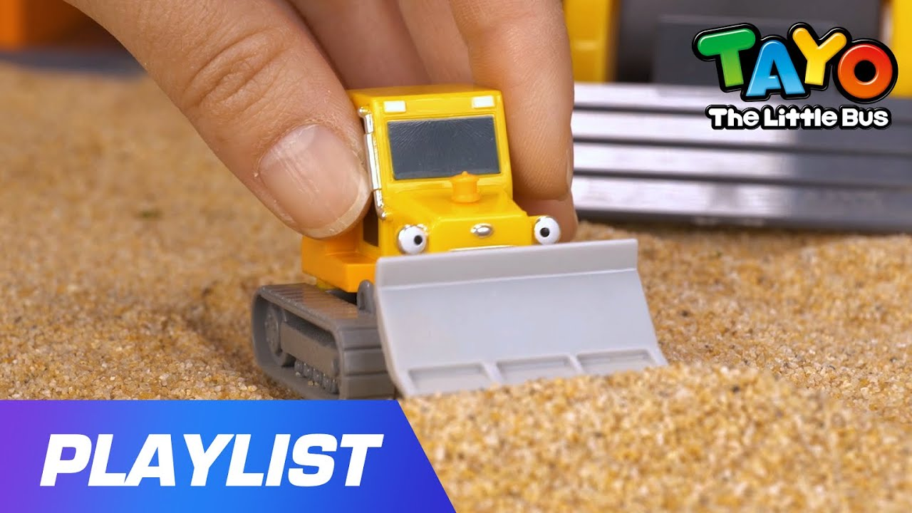Strong Heavy Vehicles Song l Bulldozer Billy is happy! l Car Songs l Toy Songs l Tayo the Little Bus