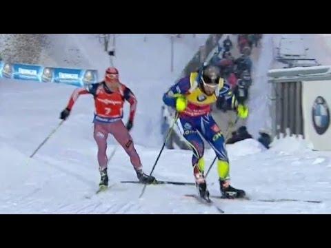 Мартен Фуркад vs Евгений Гараничев - Биатлон 16.01.2016 Мужчины масс-старт