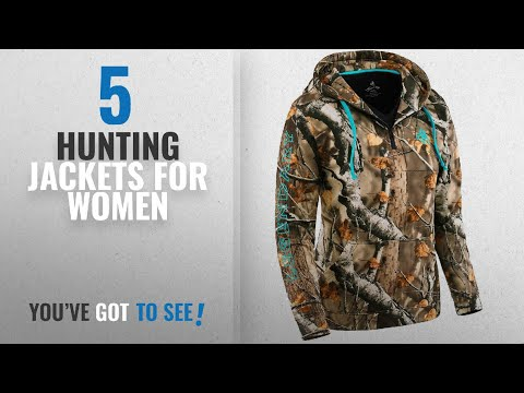 Top 10 Hunting Jackets For Women [2018]: Legendary Whitetails Ladies Power Quarter Zip Hoodie Big