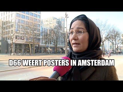 D66 weert posters in Amsterdam