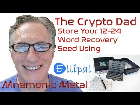 How To Store Your BIP 39 Compatible 12 To 24 Word Backup Phrase Using The Ellipal Mnemonic Metal