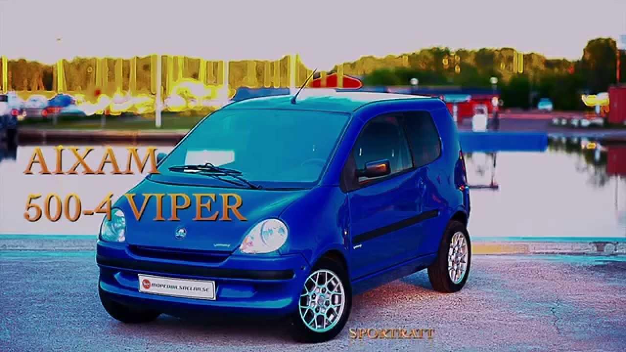 aixam 500 4 viper mopedbil youtube. Black Bedroom Furniture Sets. Home Design Ideas