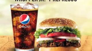 Whopper JR + Refresco a ¢1.000