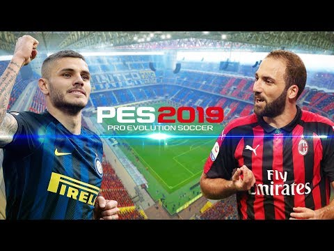 PES 2019 | อินเตอร์ มิลาน VS เอซี  มิลาน |  ภาพสวย สมจริง มันโคตร !! 21/10/2018
