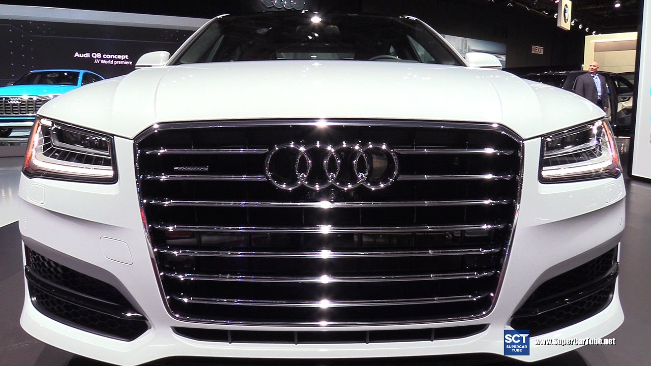 2017 audi a8 l 3 0t quattro exterior and interior walkaround 2017 detroit auto show video. Black Bedroom Furniture Sets. Home Design Ideas
