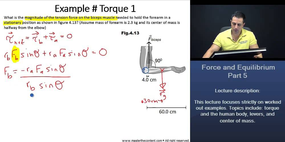 Mcat  Force And Equilibrium Worked Example