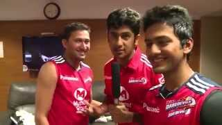 Unmukt Chand ( Having Fun in the Dressing Room )