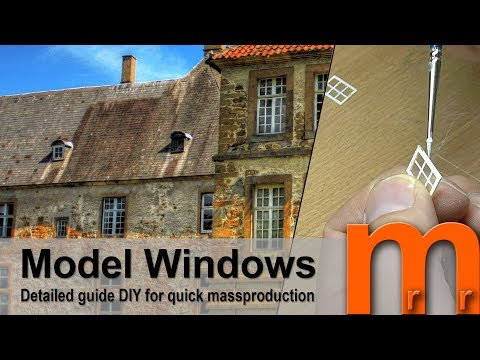 Model Windows for miniature houses – Detailed guide DIY