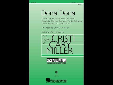 Dona Dona - Arranged by Cristi Cary Miller