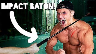 Bodybuilder VS Impact Baton Experiment | Expandable Baton Damage Test