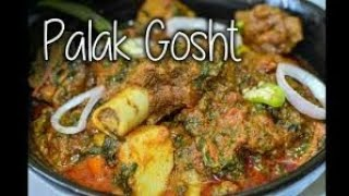 Palak gosht recipe spinesh with mutton recipe punjabi style spicy tasty quick and easy recipe vlog