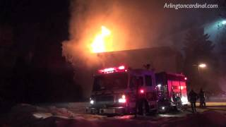 Apartment Fire on Carriageway Rolling Meadows