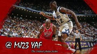 Michael Jordan vs Shaquille O'neal Highlights Bulls vs Magic (1993.01.12) - 23pts, First Meeting!!!