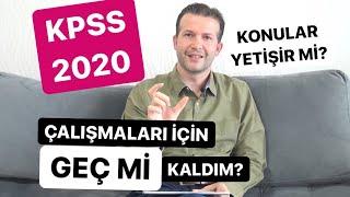 KPSS 2020 için Çalışmaları Geç mi Kaldım? Şimdi Başlarsam Konular Yetişir mi? #kpss2020