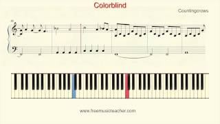 "How To Play Piano: Counting Crows ""Colorblind"" Piano Tutorial by Ramin Yousefi"