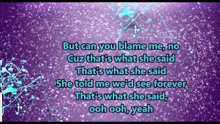 That's What She Said - Backstreet Boys (Lyrics)