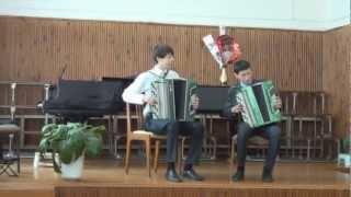"""Дуэт баянистов. Башкирская песня """"Танец"""". The duo accordionists"""