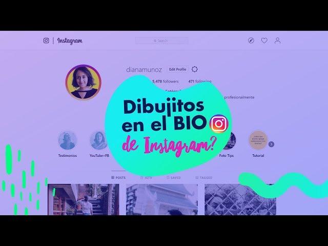 Cómo poner dibujitos en el BIO de Instagram? (+ la app para pre-visualizar tu feed) | Diana Muñoz